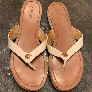 White coach sandals size 8.5